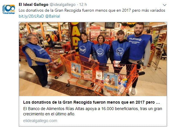 BALRIAL en el Ideal Gallego 18/12/18