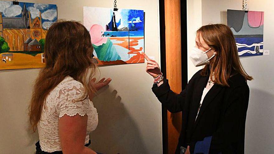 Alumnos de Cambre realizan una muestra solidaria de pintura en colaboración con Artbys (El Ideal Gallego)